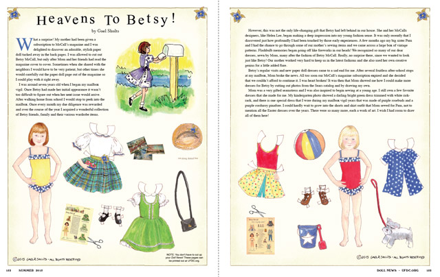 Betsy Paper Doll 2