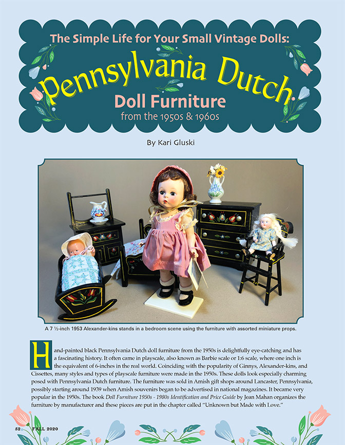The Simple Life for Your Small Vintage Dolls: Pennsylvania Dutch Doll Furniture